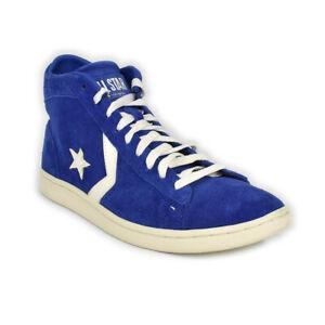 Dettagli su Converse All Star sneakers scarpa Uomo pro leather lp mid alta blu 131106C