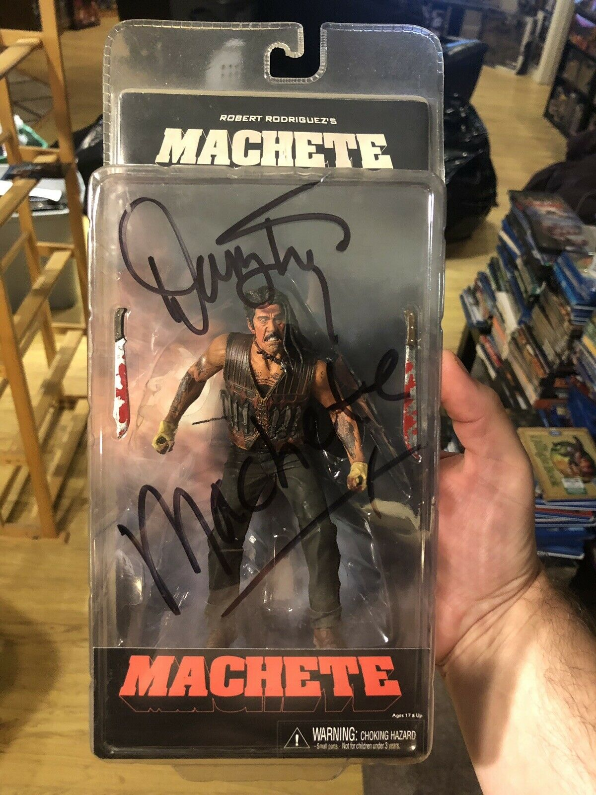 Neca Machete Danny Trejo Hand Signed Action Figure Very Rare Signed In Person
