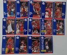 1991-92 Fleer Philadelphia 76ers Sixers Team Set Of 14 Basketball Cards