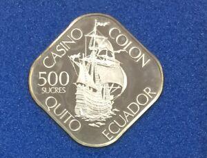 Franklin-Mint-Colon-Internacional-Casino-Ecuador-Silver-Gaming-Coin-Token