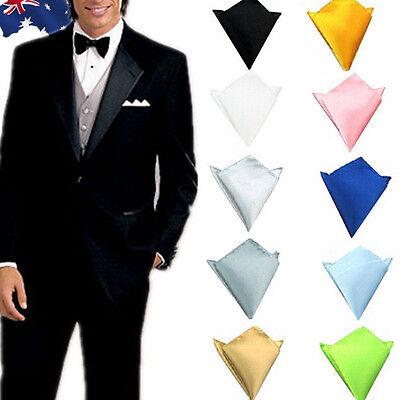 Plain Peach Pocket Square Satin Finish Wedding Party packet Hanky Handkerchief
