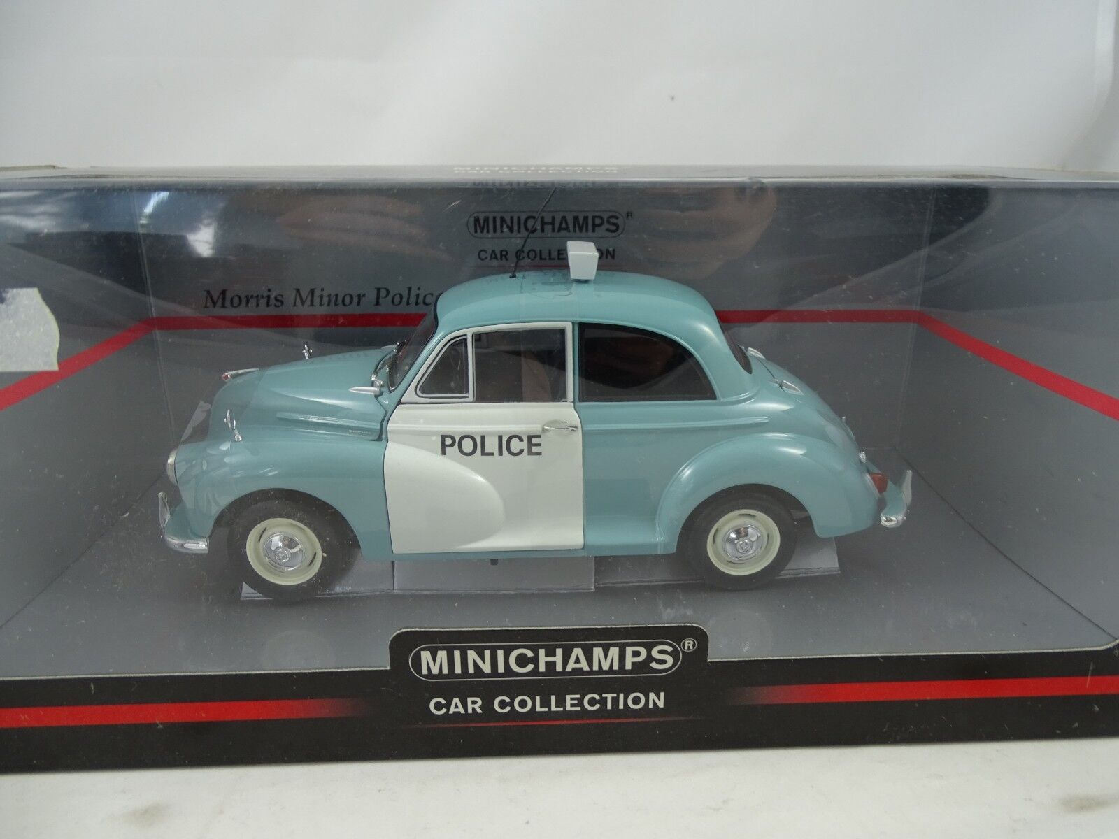 1 18 Minichamps Morris Minor Police bluee white -  RARITÄT