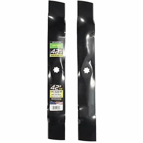 "2 Blade Set For 42/"" John Deere D110 LA115 D125 Z235  L100 Series GX22151 GY20850"