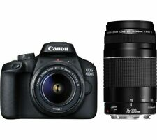 CANON EOS 4000D DSLR Camera with EF-S 18-55 mm f/3.5-5.6 III Lens - Currys
