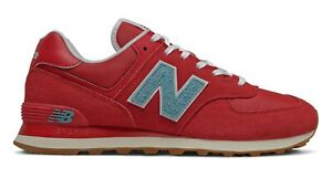 NEW-BALANCE-574-Scarpe-Uomo-Sneakers-Suede-Textile-TEAM-RED-BLUE-ML574STR
