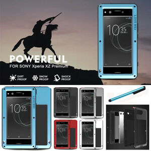 check out 66685 4eab3 Details about For Sony Xperia XA1 Ultra XZ LOVE MEI Military Waterproof  Metal Glass Case Cover