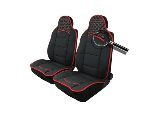 2x Sitzauflage Sitzkissen Sitzmatten Rückenkissen Schwarz Stoff+Kunstleder