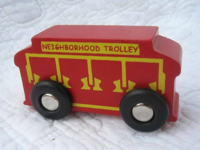 Vintage Holgate Toy Wooden Mr Mister Rogers Neighborhood Trolley For Sale Online Ebay
