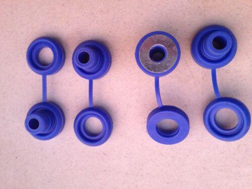 Hi Temp Blue Snapper Exhaust Grommet With Washer anti-vibration Insulators-4 Pcs