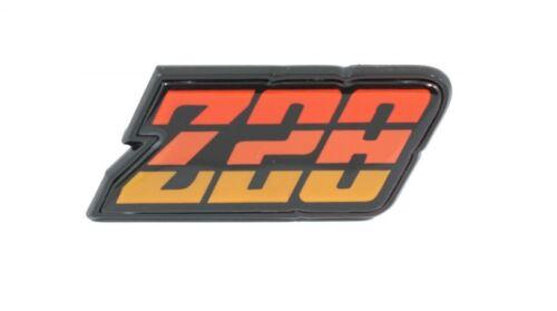 "Orange NEW TrimParts! 1980-81 Camaro Gas// Fuel Door Emblem /""Z//28/"" USA-Made"