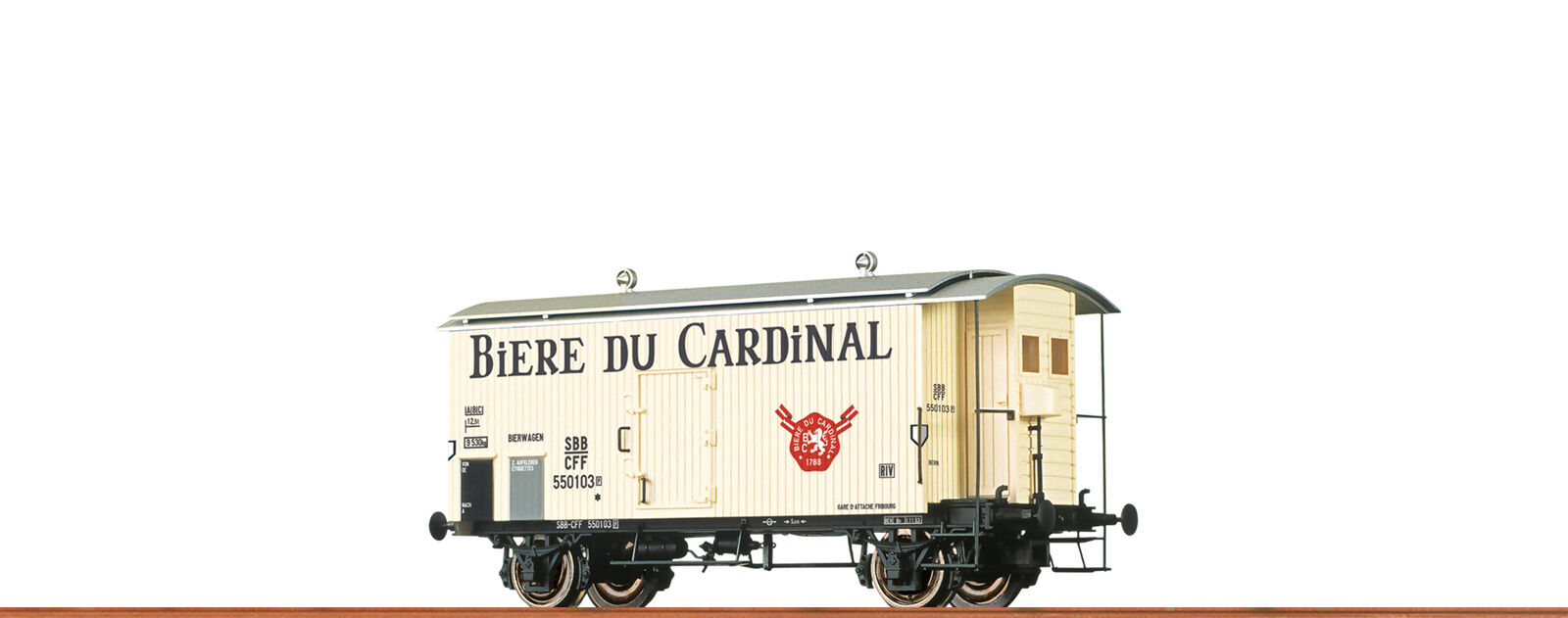 Brawa 47872 h0 goods k2, sbb, III, Cardinal dc