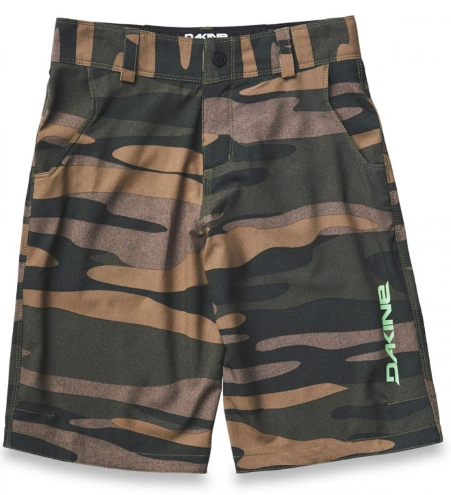 Dakine PACE Boys Youth Poly Stretch Cycling Shorts 8 Fieldcamo NEW 2019 Sample