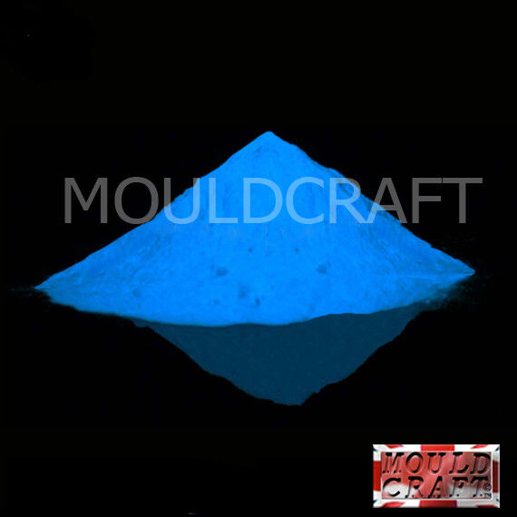 Mouldcraft Glow in the dark pigment powder 20g SKY BLUE use our casting resin
