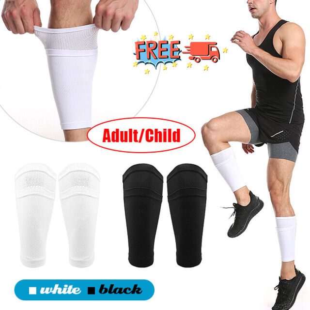 Men Soccer Shin Pad Holder Support Breathable Mesh Guard Socks Sleeves G9R8