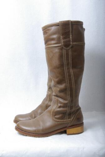 planas redonda dm marrón la cuero Uk5 tamaño Timberland Botas P1122 rodilla con hasta de punta zqwtBt7xd