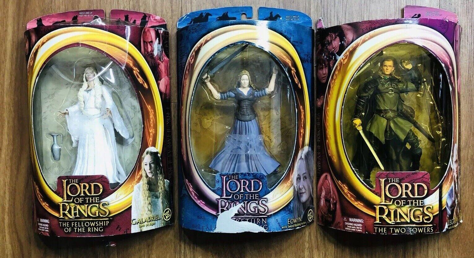 Lord of the Rings Action Figure Lot Toy Biz - Legolas, Galadriel, Eowyn