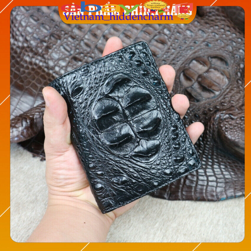 Genuine Double Sides Crocodile Skin Wallets -Vertical Billfold-Very LuxuryVN30