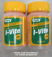 Rugby I-vite W/ Lutein Vitamin (compare To Ocuvite ) 60 Tablets ( 2 Pack )