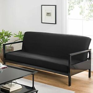 Queen Futon Covers Modern Black Soft Cotton Bed Sofa Couch Stylish Cover ly