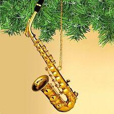 Gold Saxophone Miniature Ornament