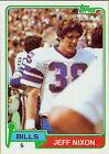 1981 Topps Jeff Nixon #313 Football Card