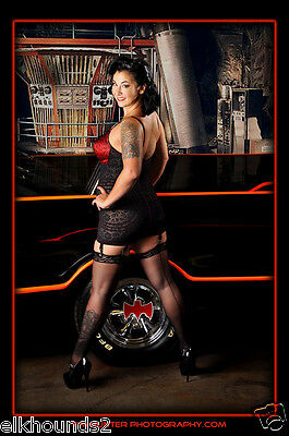 Red/Black Rago 9357 Retro Corselette SHAPEWEAR & Control  1950s Madman