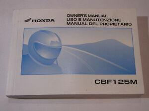HONDA-CBF125M-2009-OWNER-OWNER-039-S-MANUAL-DEL-PROPIETARIO-USO-E-MANUTENZIONE
