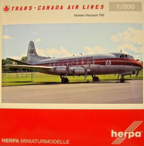 Herpa Wings 1:200 Vickers Viscount 700 Trans Canada Air Lines CF-thi 558938