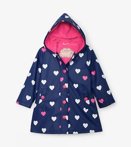 Hatley Filles Rayé Coeurs Couleur Changeante Splash Jacket S20SHK817