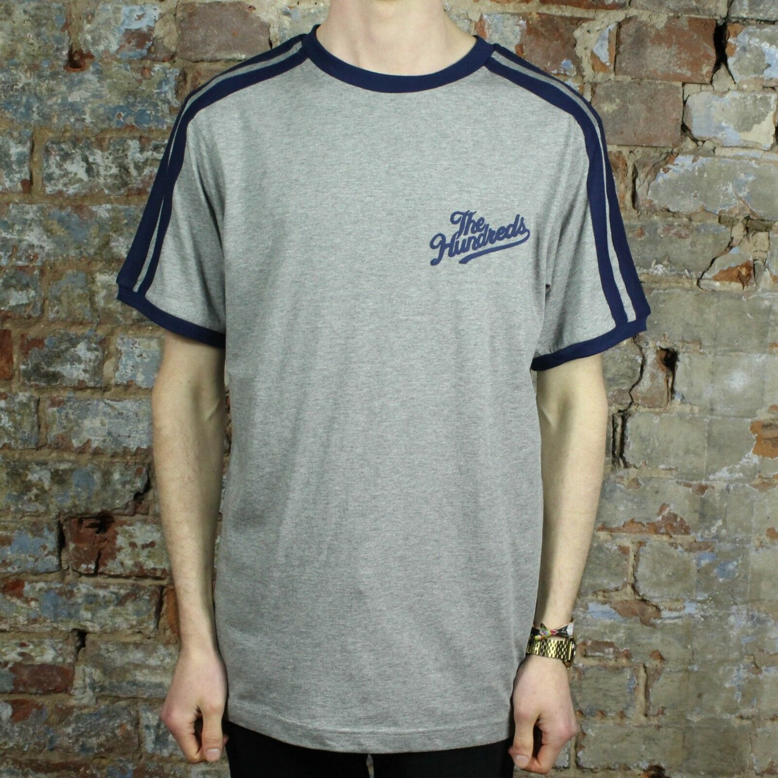 The Hundreds Palos Short Sleeve T-Shirt New - Grey in Size S