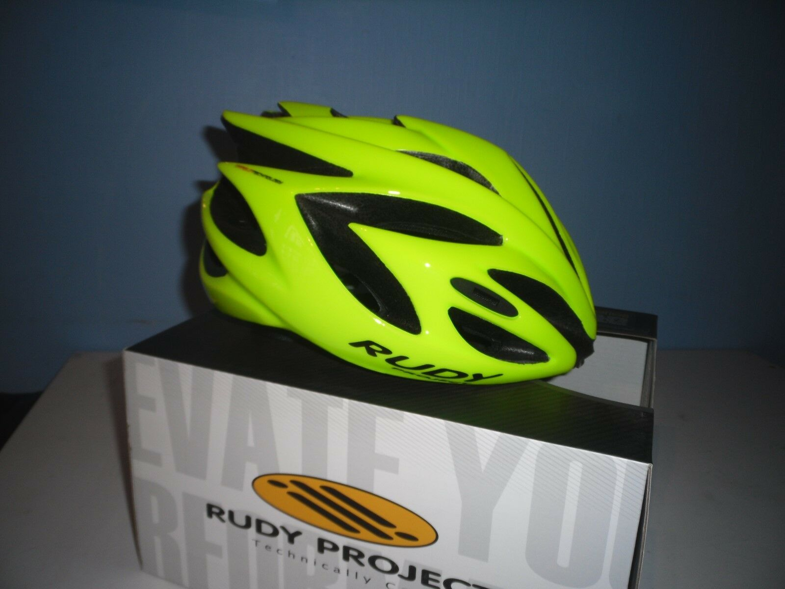 RUDY PROJECT RUSH ROAD HELMET  FLUO YELLOW SHINY  online sales