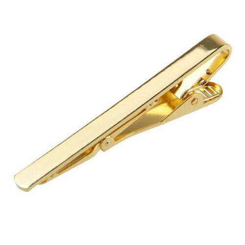 Hottest Men Silver Gold Metal Simple Practical Plain Necktie Tie Clip Bar Clasp