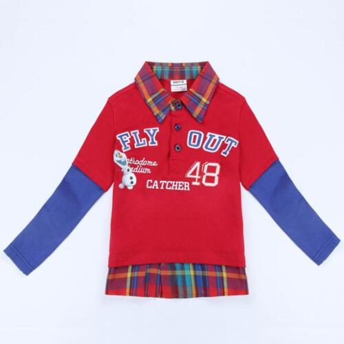 Boys Frozen Olaf 100/% cotton red long sleeve top 18Months-5Years left