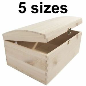 Wooden Storage Boxes / 5 Sizes / Treasure Chest Keepsake Trinket Memory Souvenir