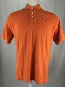 Orvis-Short-Sleeve-Orange-100-Cotton-Polo-Shirt-Men-s-Size-Large-EUC