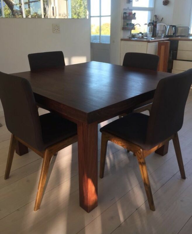 Beautiful Design Square African Mahogany Table LIM Furniture