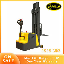 Apollolift 118 High Counterbalanced Electric Stacker 1212lbs Capmaterial Lift
