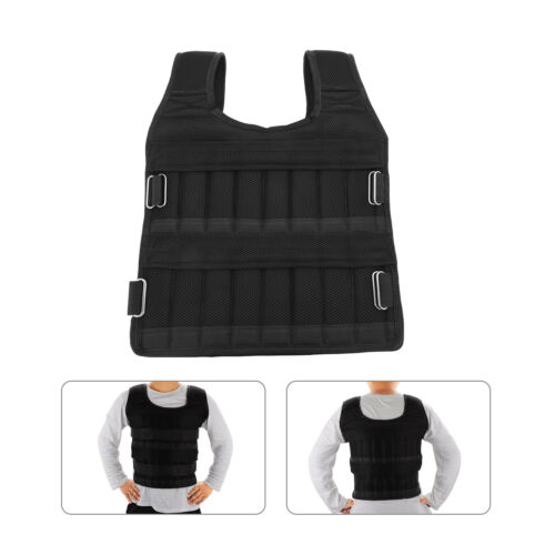 15kg Weighted Jacket Vest Running Exercise Strength Resistance Fitness Training