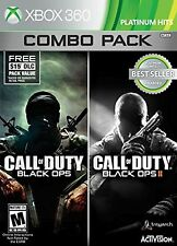 Call of Duty: Black Ops 1 & 2 Combo Pack - Xbox 360 NEW