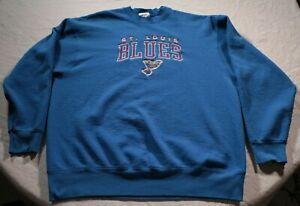 Vintage-90s-St-Louis-Blues-Sweatshirt-2XL-Shirt-NHL-Hockey-Retro-Pro-Player