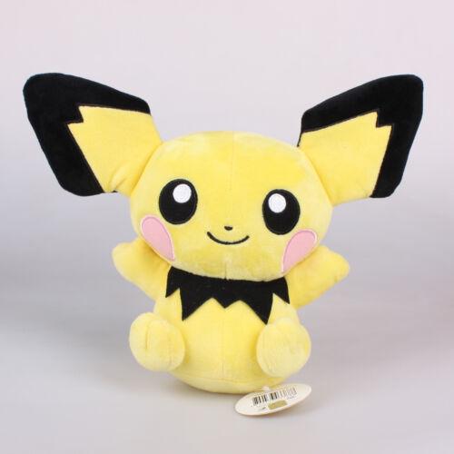 """Offiziell 9/"""" 20Cm Pichu Pokemon Plüschtiere Kuscheltier Plüsch Stofftier Puppe"""