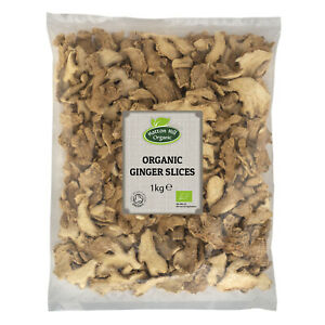 Organic Dried Ginger Slices Certified Organic