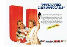 PUBLICITE ADVERTISING 0217  1985  Magasins Supermarchés Hyper Super U (2p)
