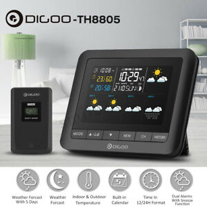 DIGOO-Wireless-Wetterstation-LCD-Thermometer-Barometer-Luftfeuchtigkeit-Indoor-O