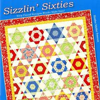 Sizzlin' Sixties Easy Strip Pieced Hexagon Blocks