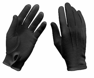 100% Cotton Black Parade Marching Band Gloves Tuxedo Waiter Formal Wear