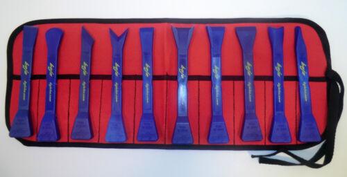 BoJo Tools 10pc Deluxe Scraper Kit with Pouch Nylon//plastic composite.