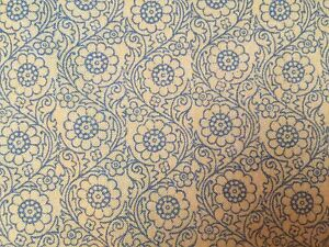 Teal Blue FQ Fat Quarter Fabric Glitter Lines Patterns 100/% Cotton Quilting
