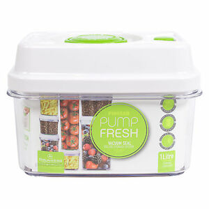 Image Is Loading 1 Litre Vacuum Seal Pump Fresh Container Lunch