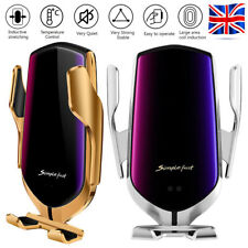 360° Automatic Wireless Fast Car Charging Charger Mount Clamping Phone Holder UK